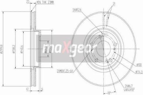 Maxgear 19-2401 - Bremžu diski interparts.lv