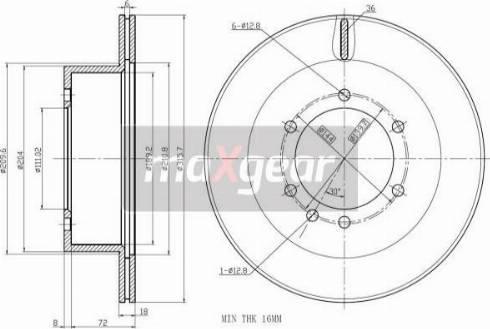 Maxgear 19-2408 - Bremžu diski interparts.lv