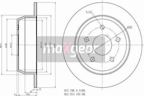 Maxgear 19-2544 - Bremžu diski interparts.lv
