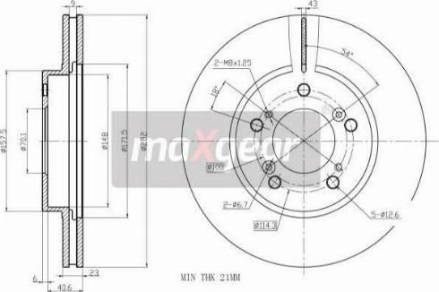 Maxgear 19-2554 - Bremžu diski interparts.lv