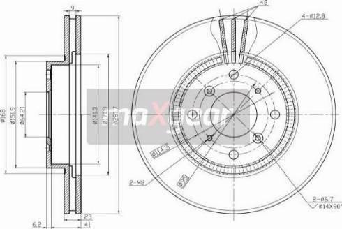 Maxgear 19-2551 - Bremžu diski interparts.lv
