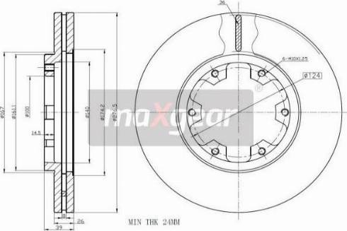 Maxgear 19-2569 - Bremžu diski interparts.lv