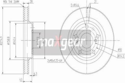 Maxgear 19-2562 - Bremžu diski interparts.lv