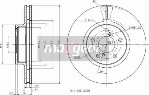 Maxgear 19-2505 - Bremžu diski interparts.lv