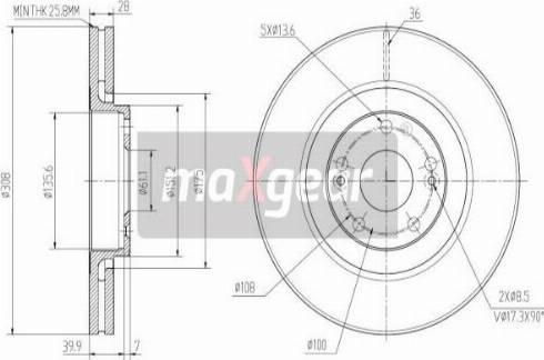 Maxgear 19-2503 - Bremžu diski interparts.lv