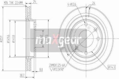 Maxgear 19-2502 - Bremžu diski interparts.lv