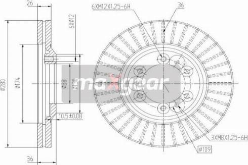 Maxgear 19-2649 - Bremžu diski interparts.lv