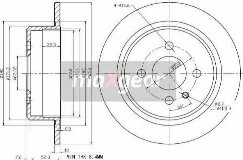 Maxgear 19-2663 - Bremžu diski interparts.lv