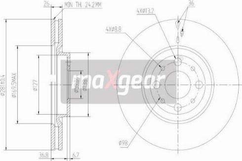 Maxgear 19-2014 - Bremžu diski interparts.lv