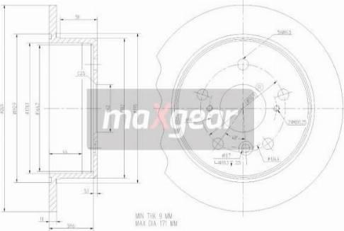 Maxgear 19-2347 - Bremžu diski interparts.lv