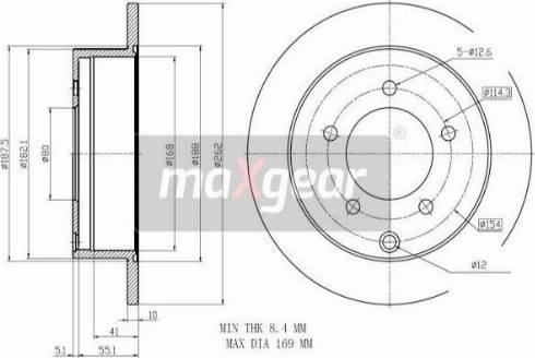 Maxgear 19-2389 - Bremžu diski interparts.lv