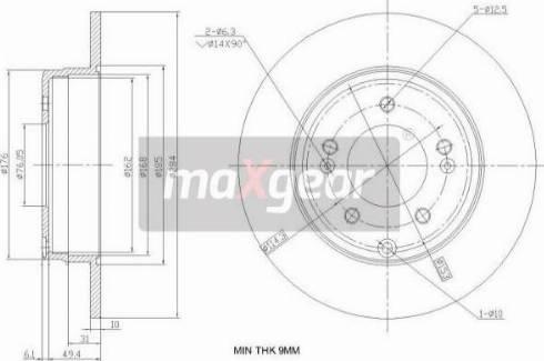 Maxgear 19-2382 - Bremžu diski interparts.lv