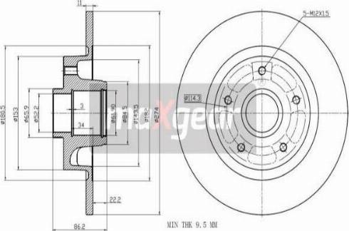 Maxgear 19-2243 - Bremžu diski interparts.lv