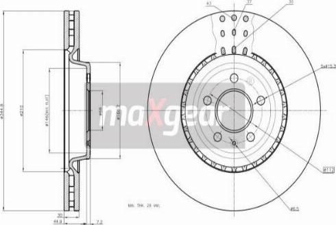 Maxgear 19-2251 - Bremžu diski interparts.lv