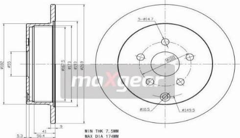 Maxgear 19-2266 - Bremžu diski interparts.lv