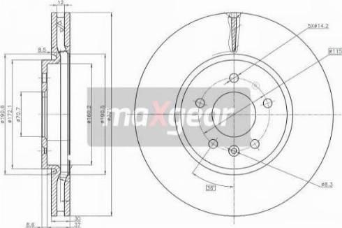 Maxgear 19-2229 - Bremžu diski interparts.lv