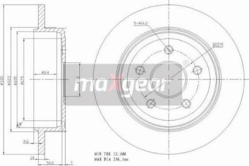 Maxgear 19-2279 - Bremžu diski interparts.lv