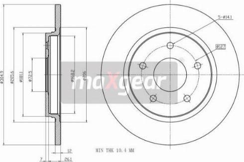 Maxgear 19-2275 - Bremžu diski interparts.lv