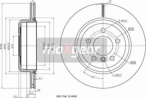 Maxgear 19-2783 - Bremžu diski interparts.lv