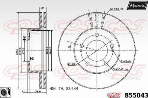 A.B.S. 16468 - Bremžu diski interparts.lv