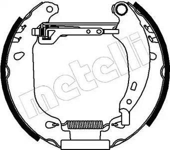 Metelli 51-0098 - Bremžu komplekts, trumuļa bremzes interparts.lv