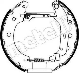 Metelli 51-0097 - Bremžu komplekts, trumuļa bremzes interparts.lv