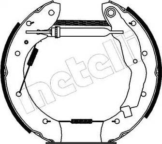 Metelli 51-0067 - Bremžu komplekts, trumuļa bremzes interparts.lv