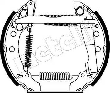 Metelli 51-0028 - Bremžu komplekts, trumuļa bremzes interparts.lv