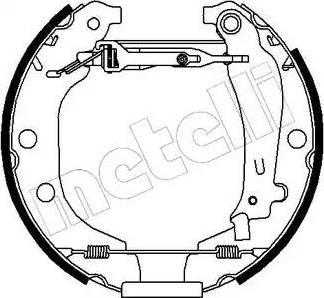 Metelli 51-0078 - Bremžu komplekts, trumuļa bremzes interparts.lv