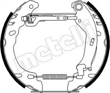 Metelli 51-0194 - Bremžu komplekts, trumuļa bremzes interparts.lv