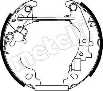 Metelli 51-0145 - Bremžu komplekts, trumuļa bremzes interparts.lv