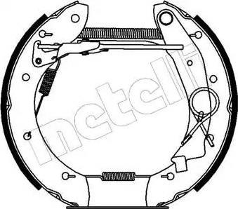 Metelli 51-0140 - Bremžu komplekts, trumuļa bremzes interparts.lv