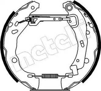 Metelli 51-0155 - Bremžu komplekts, trumuļa bremzes interparts.lv