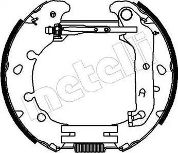 Metelli 51-0153 - Bremžu komplekts, trumuļa bremzes interparts.lv