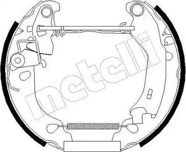 Metelli 51-0181 - Bremžu komplekts, trumuļa bremzes interparts.lv