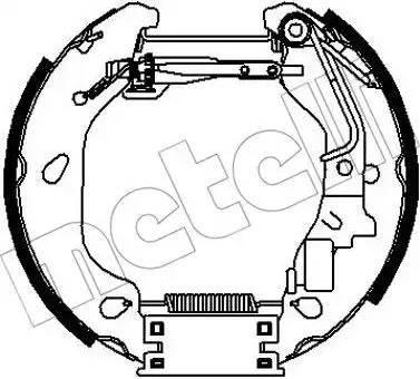 Metelli 51-0319 - Bremžu komplekts, trumuļa bremzes interparts.lv