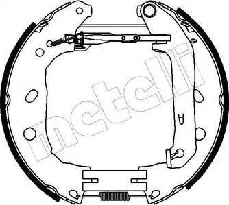 Metelli 51-0230 - Bremžu komplekts, trumuļa bremzes interparts.lv