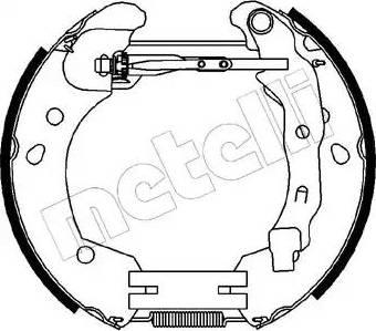 Metelli 51-0231 - Bremžu komplekts, trumuļa bremzes interparts.lv
