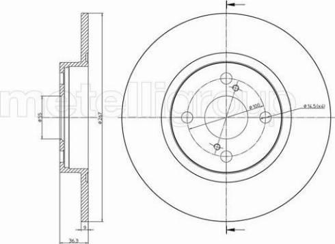 Metelli 23-0969C - Bremžu diski interparts.lv