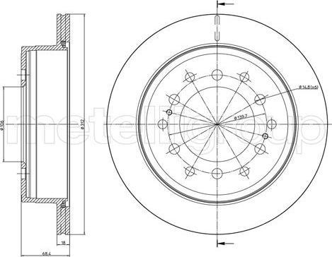 Metelli 23-0972C - Bremžu diski interparts.lv