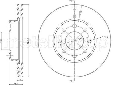 Metelli 23-0496 - Bremžu diski interparts.lv