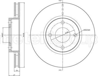 Metelli 23-0498 - Bremžu diski interparts.lv