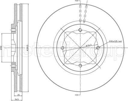Metelli 23-0497 - Bremžu diski interparts.lv