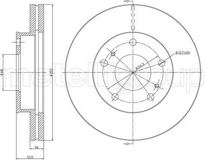 Metelli 23-0449 - Bremžu diski interparts.lv