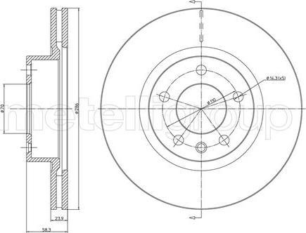 Metelli 23-0446 - Bremžu diski interparts.lv
