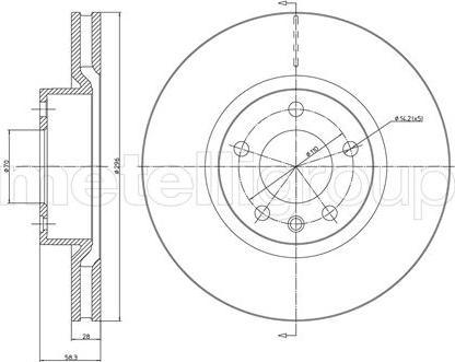 Metelli 23-0441 - Bremžu diski interparts.lv