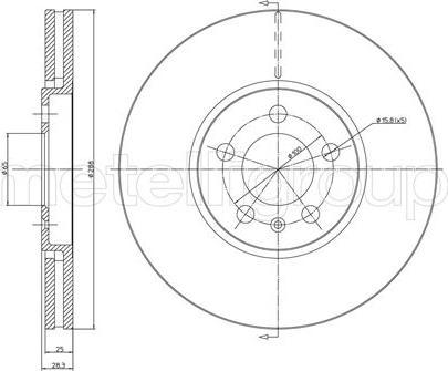 Metelli 23-0448C - Bremžu diski interparts.lv