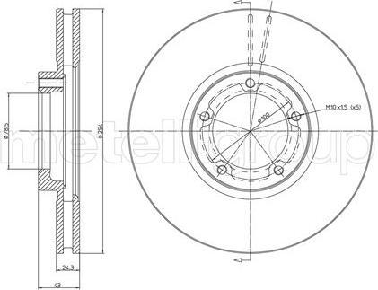 Metelli 23-0459 - Bremžu diski interparts.lv