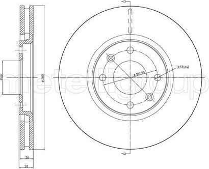 Metelli 23-0454 - Bremžu diski interparts.lv
