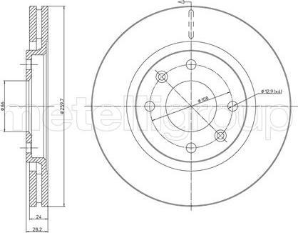 Metelli 23-0455 - Bremžu diski interparts.lv